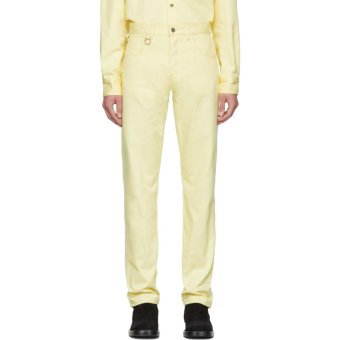 Photo: Raf Simons Yellow Two Ring Regular Fit Jeans
