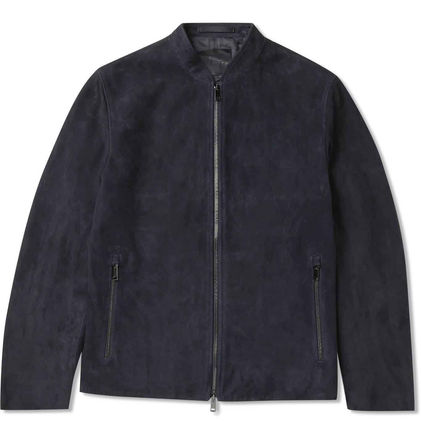 Photo: Theory - Moore Grand Suede Bomber Jacket - Blue