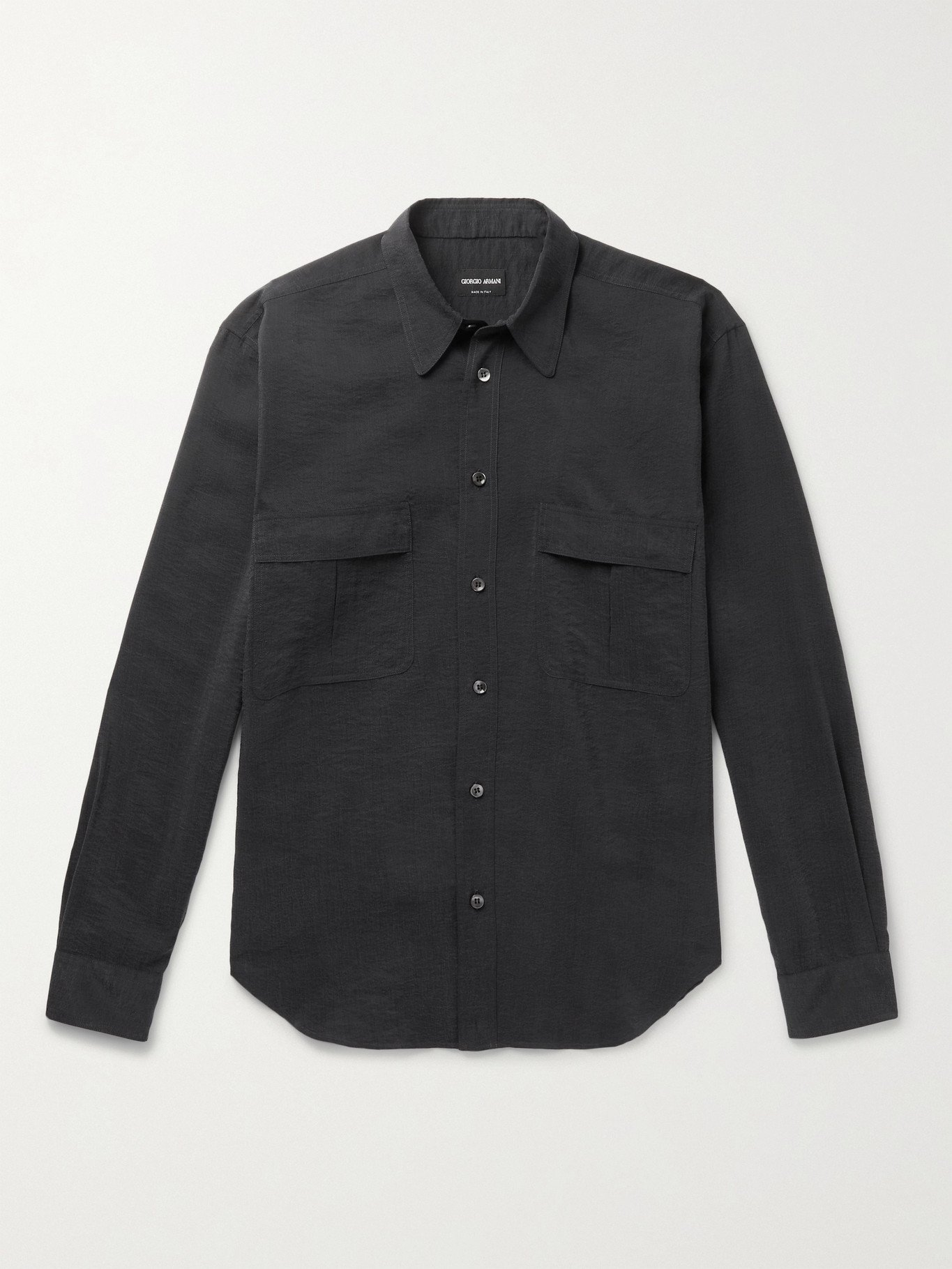 GIORGIO ARMANI - Silk-Blend Shirt - Multi - EU 39