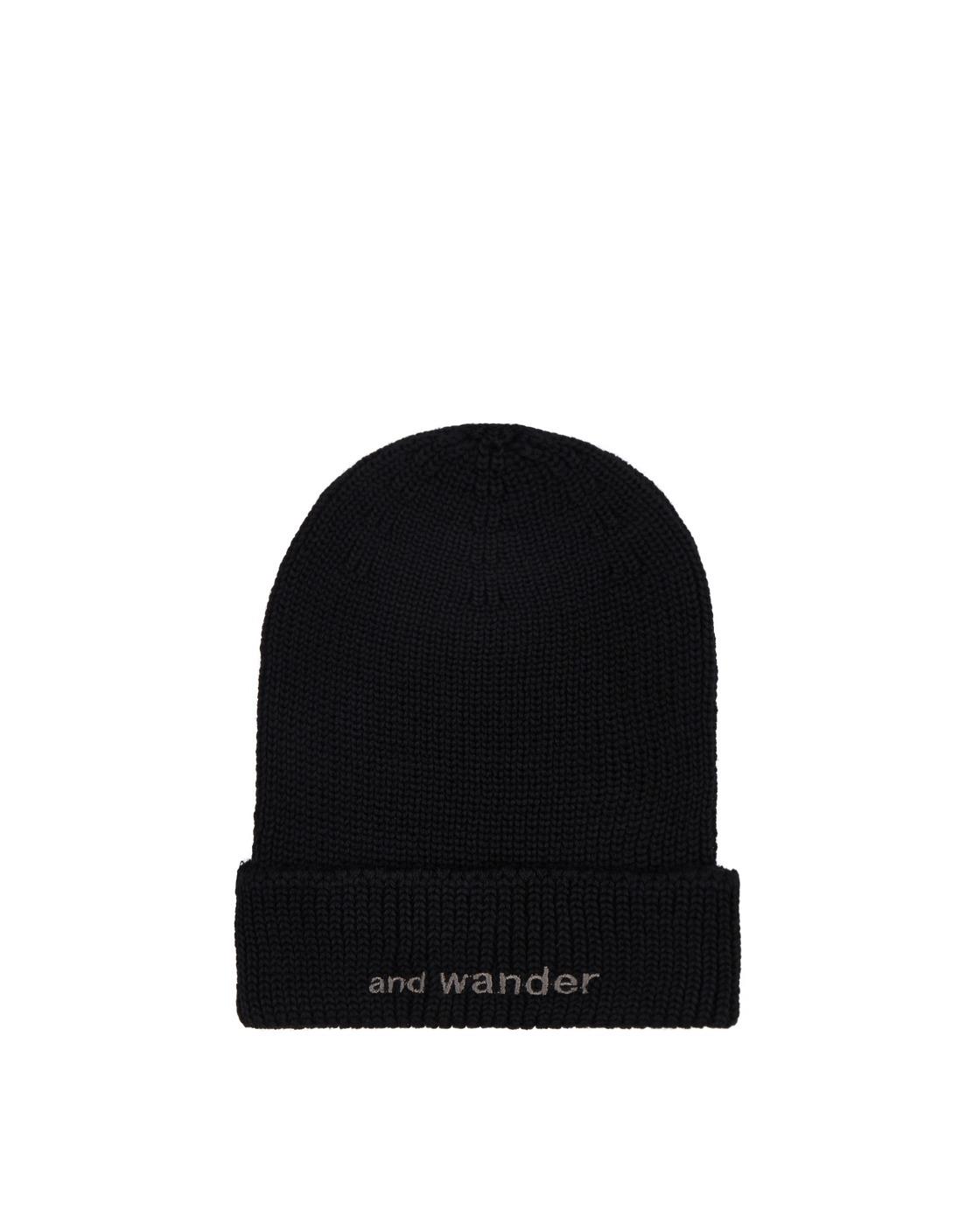 Photo: And Wander Merino Wool Beanie Black