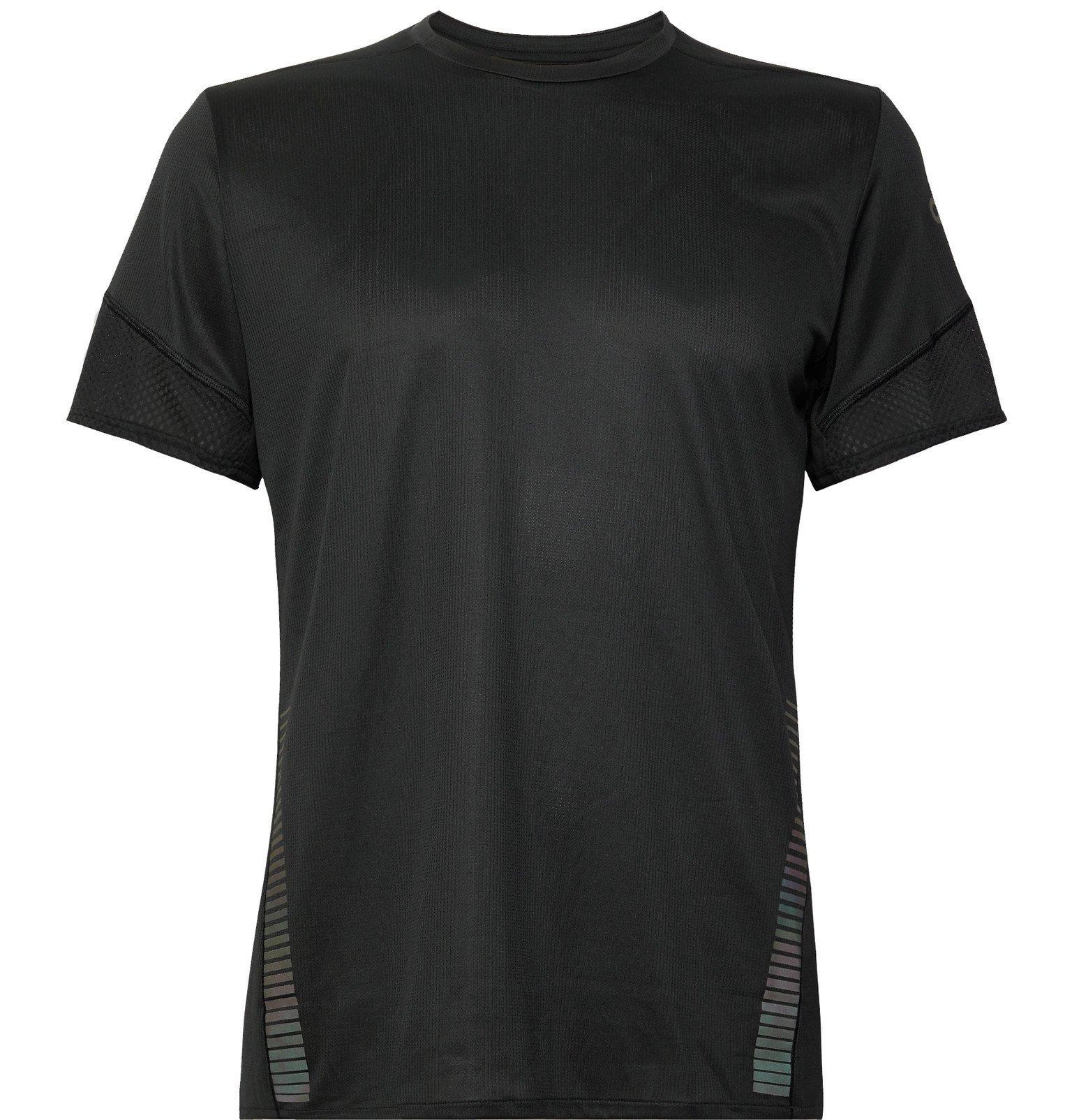 Photo: Adidas Sport - Parley 25/7 Rise Up N Run Mesh-Panelled Climacool T-Shirt - Black