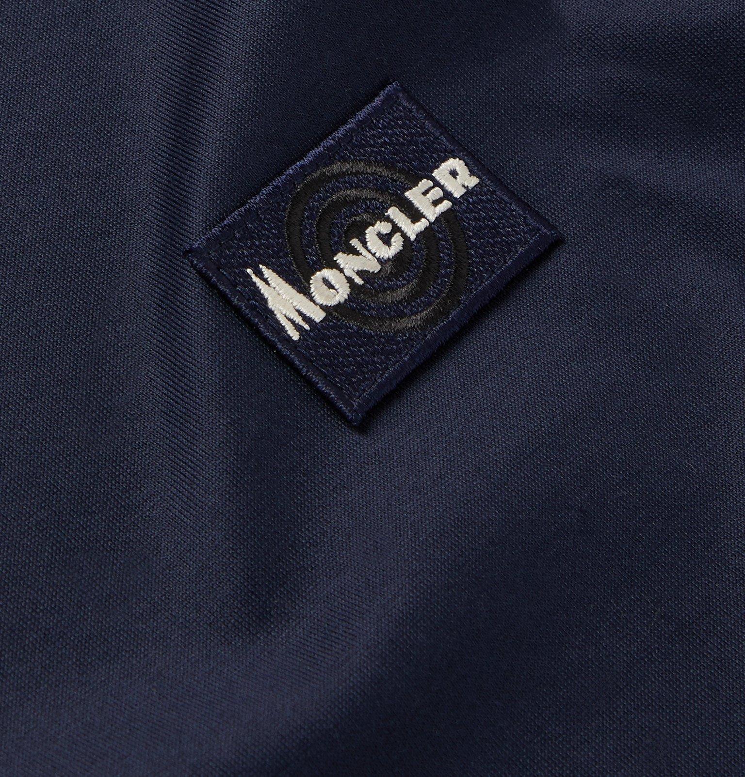 Moncler - Logo-Appliquéd Cotton-Jersey T-Shirt - Blue