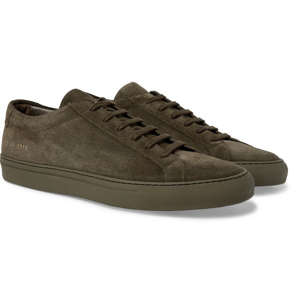 Photo: Common Projects - Original Achilles Suede Sneakers - Green