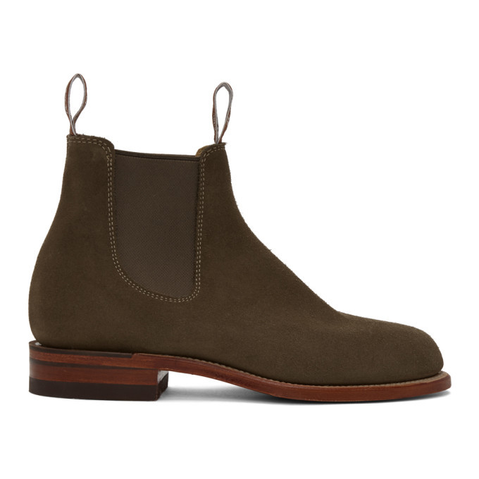Photo: R.M. Williams Taupe Suede Turnout Chelsea Boots