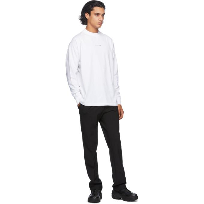 1017 ALYX 9SM Black Wool Elastic Waist Trousers
