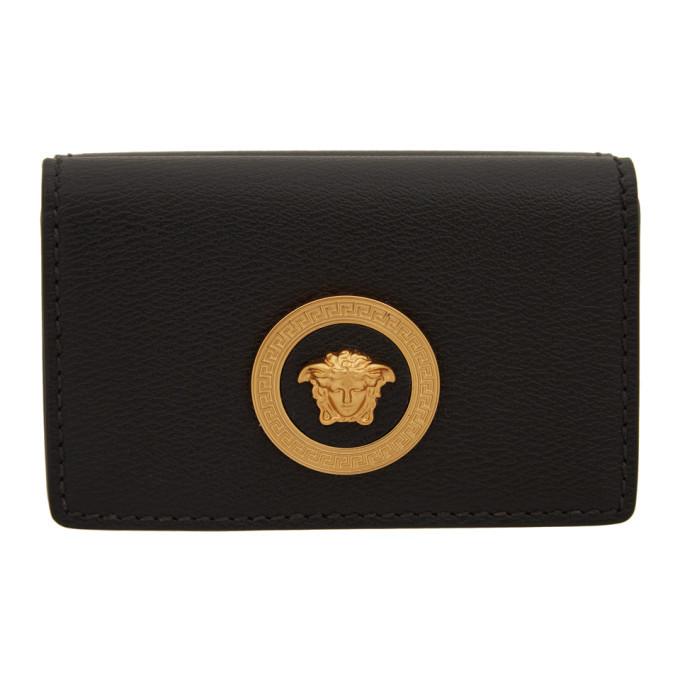Photo: Versace Black Medusa Flap Over Wallet