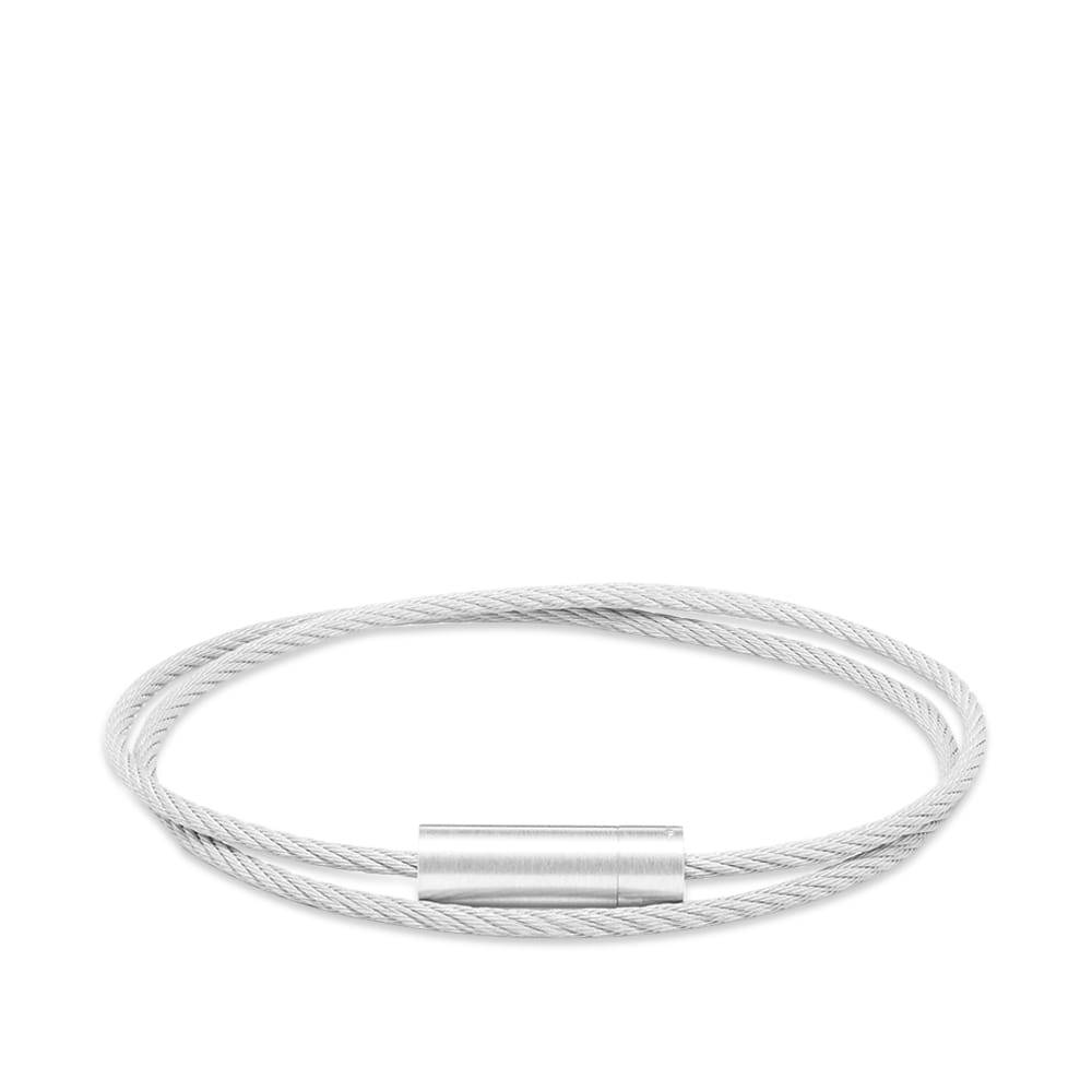 Photo: Le Gramme Brushed Double Cable Bracelet
