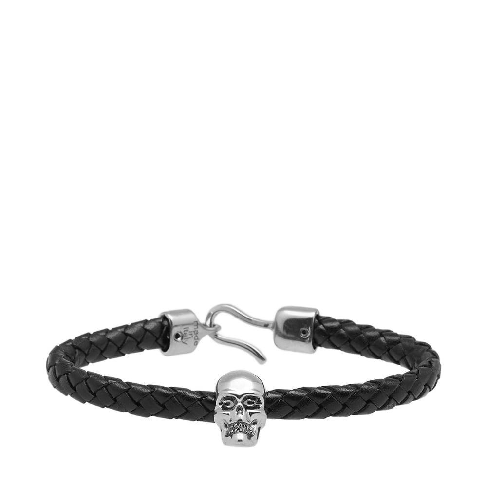 Photo: Alexander McQueen Skull Leather Bracelet