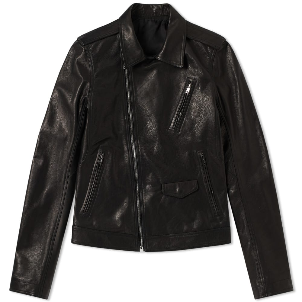 Photo: Rick Owens Stooges Leather Biker Jacket Black