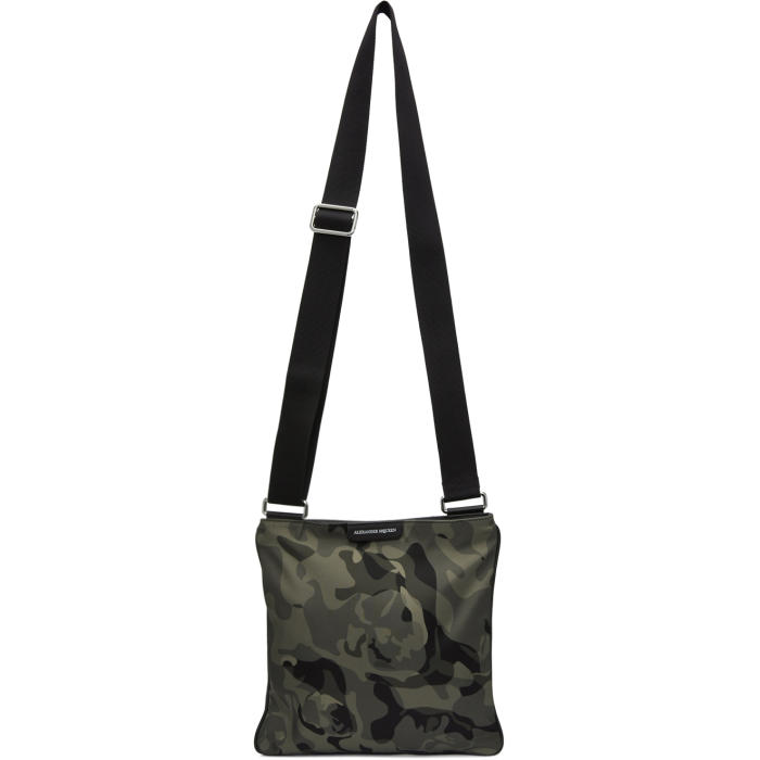 Photo: Alexander McQueen Khaki Camo Cross Body Zip Bag