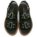 3.1 Phillip Lim Green Croc Alix Flatform Sandals