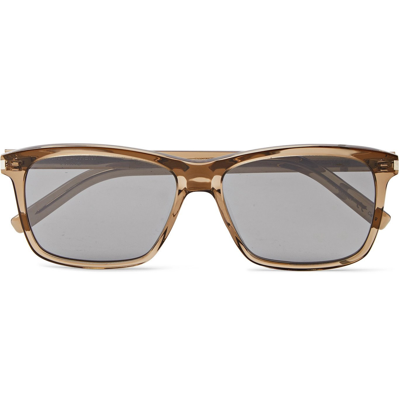 Photo: SAINT LAURENT - Square-Frame Acetate Sunglasses - Brown