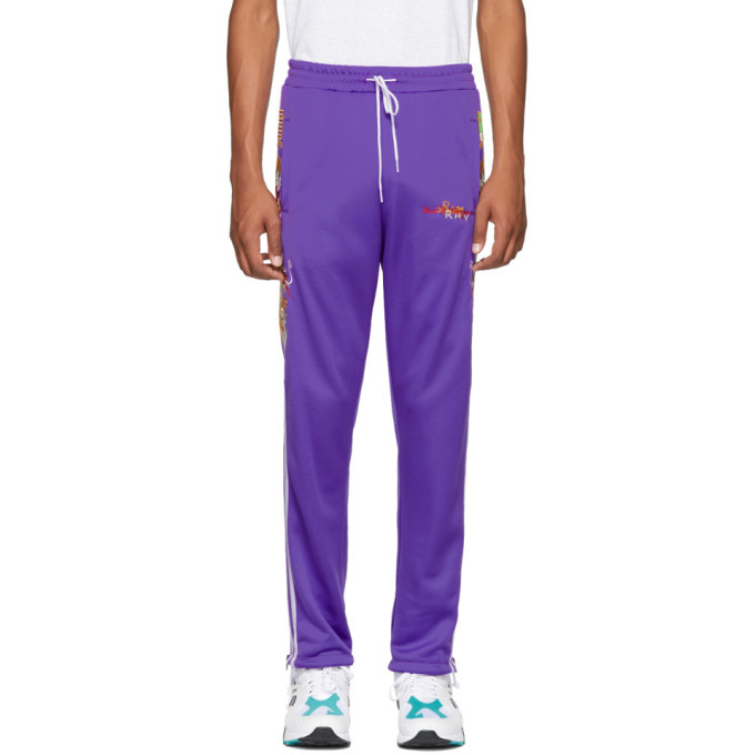 Photo: Doublet Purple Chaos Embroidery Track Pants