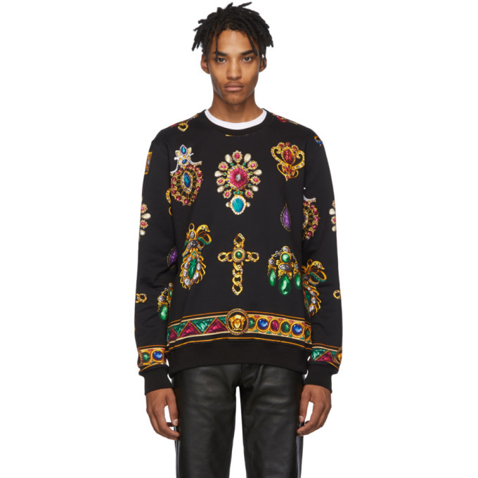 Photo: Versace Black Jewel Sweatshirt