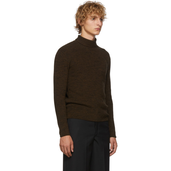 Lemaire Brown and Black Wool Turtleneck