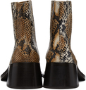 Martine Rose Brown Snake Cream Chelsea Boots