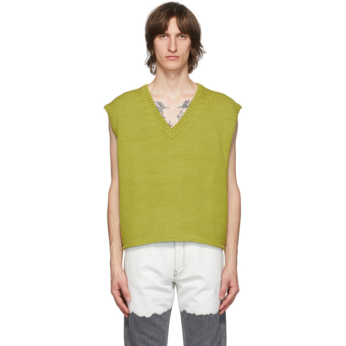 Photo: Enfants Riches Deprimes Green Boxy Sweater Vest