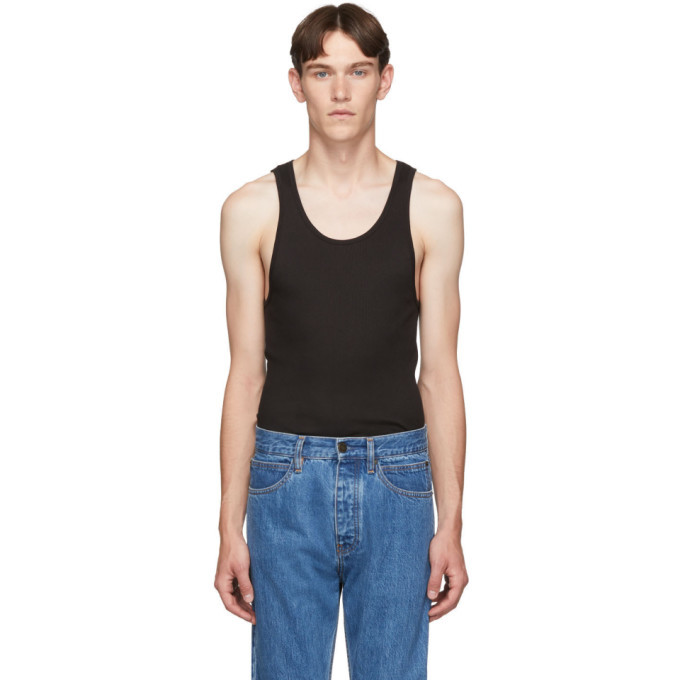 Photo: Calvin Klein Underwear Three-Pack Black Ribbed Tank Top