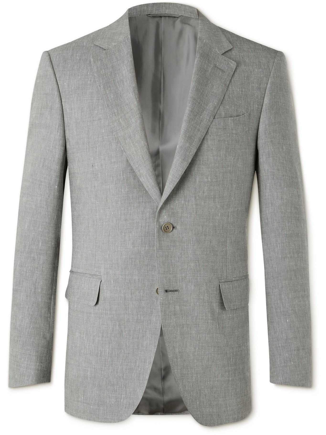 Photo: CANALI - Linen and Wool-Blend Suit Jacket - Gray - IT 46