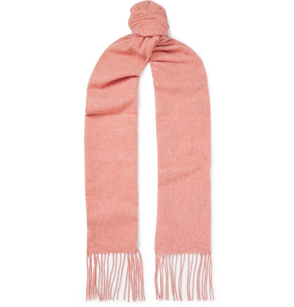 Acne Studios - Canada Skinny Fringed Mélange Wool Scarf - Pink
