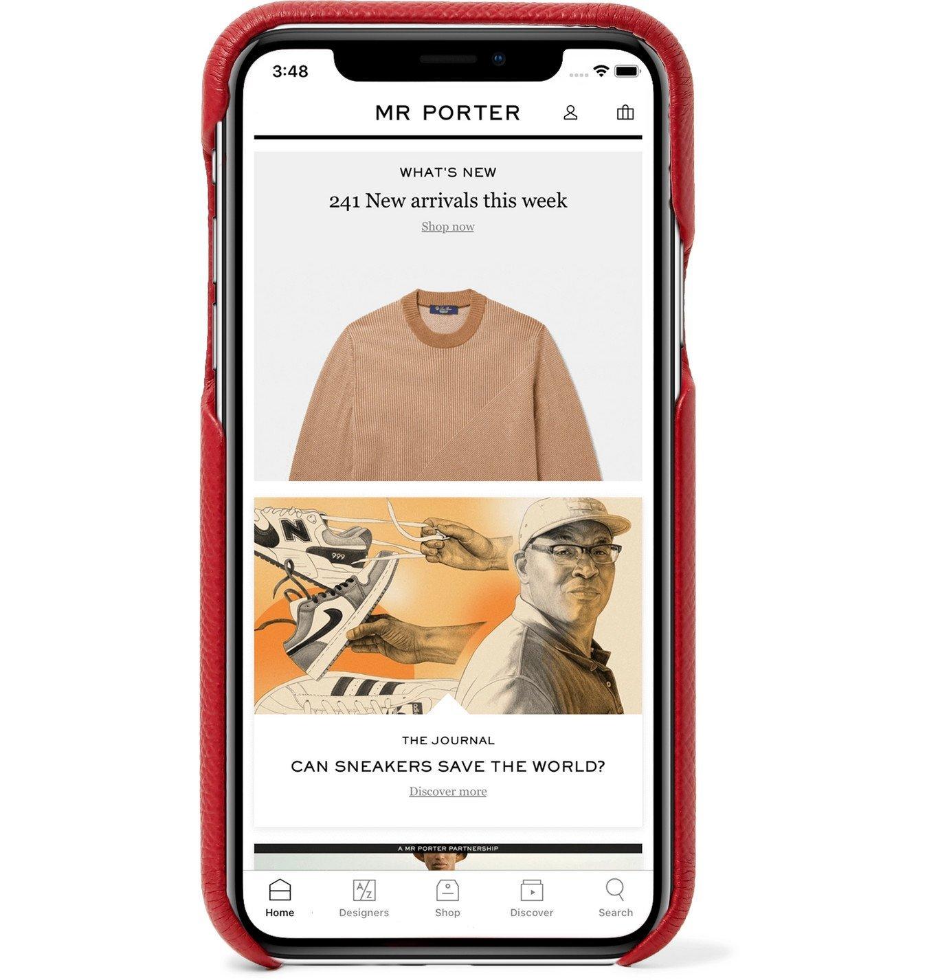 TOM FORD - Full-Grain Leather iPhone 11 Case - Burgundy