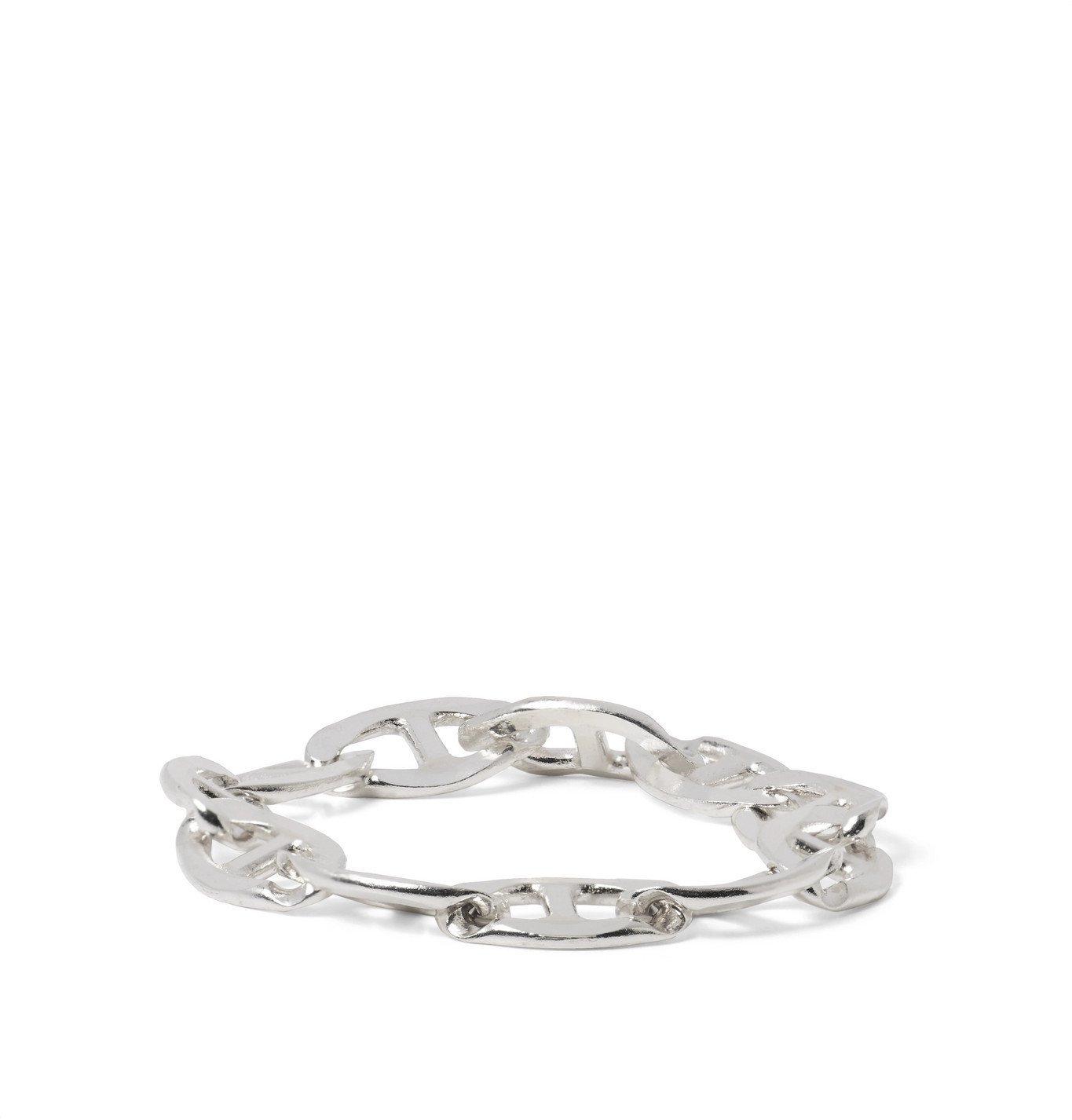 Photo: Martine Ali - Anchor Sterling Silver Chain Ring - Silver