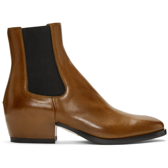 Photo: Givenchy Brown Chelsea Boots