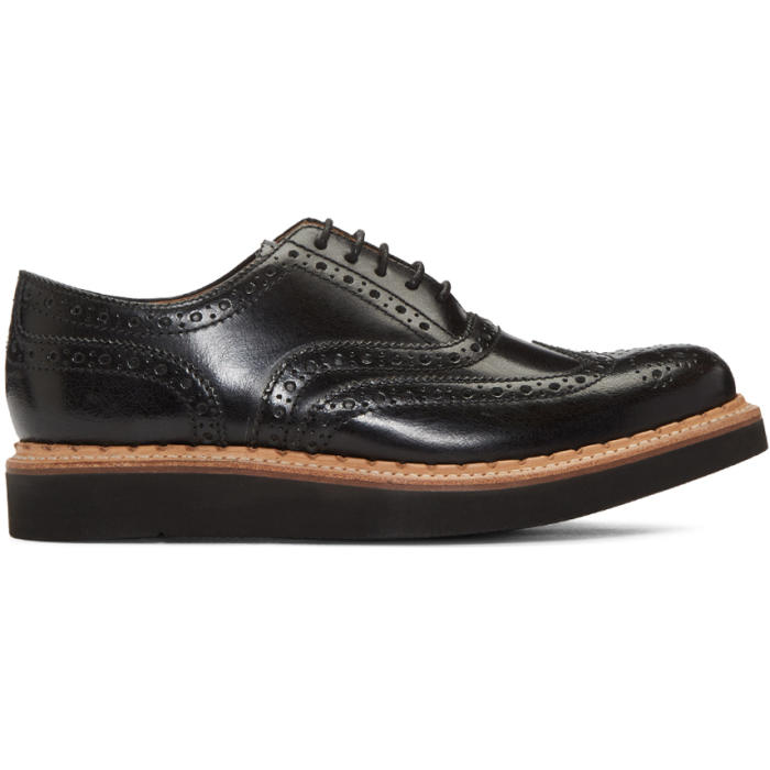 Photo: Grenson Black Stanley Brogues