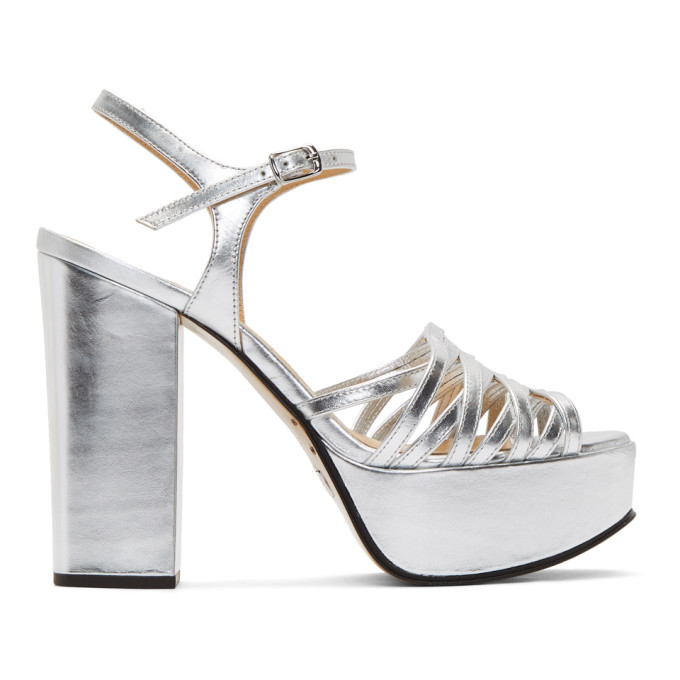 Photo: Marc Jacobs Silver The Glam Heeled Sandals