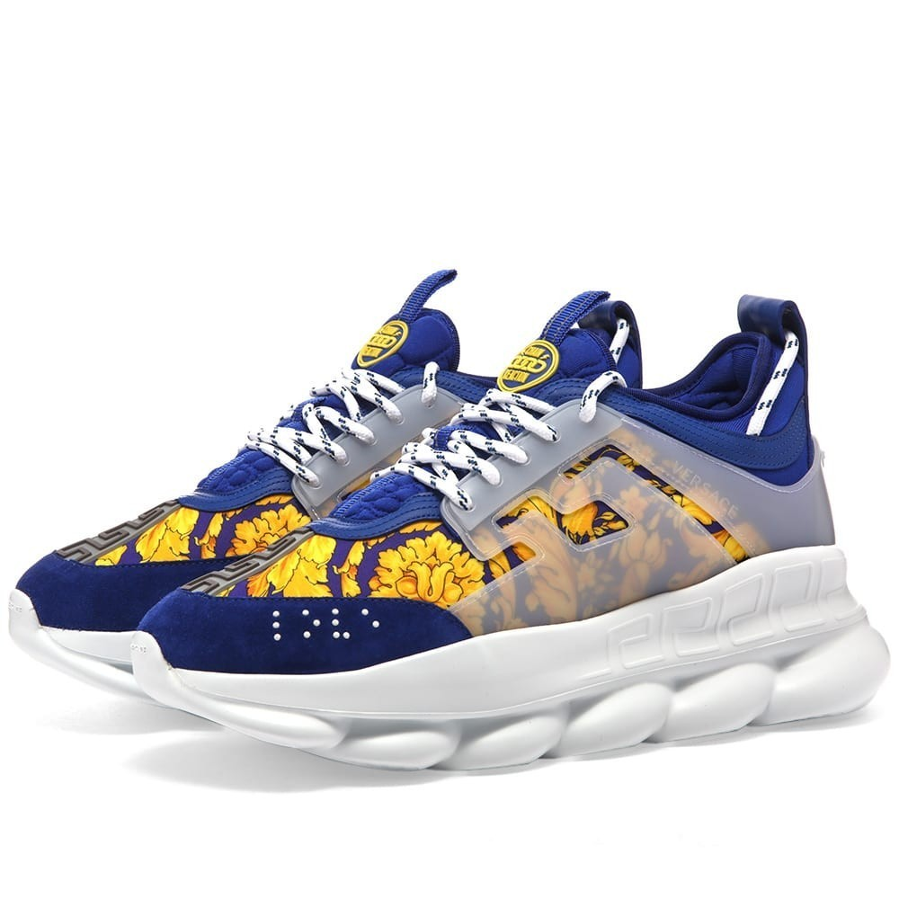 Photo: Versace Baroque Print Chain Reaction Sneaker