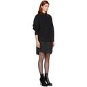 Sacai Black Sweat Shirting Combo Dress