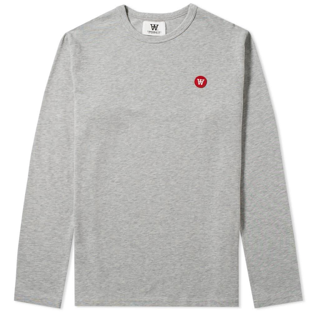 Wood Wood Long Sleeve Mel Tee Grey