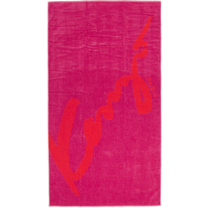 Photo: Kenzo Red and Pink Signature Beach Towel