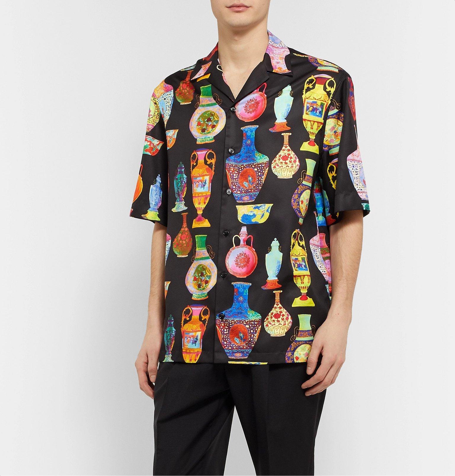 Versace - Camp-Collar Printed Voile Shirt - Multi