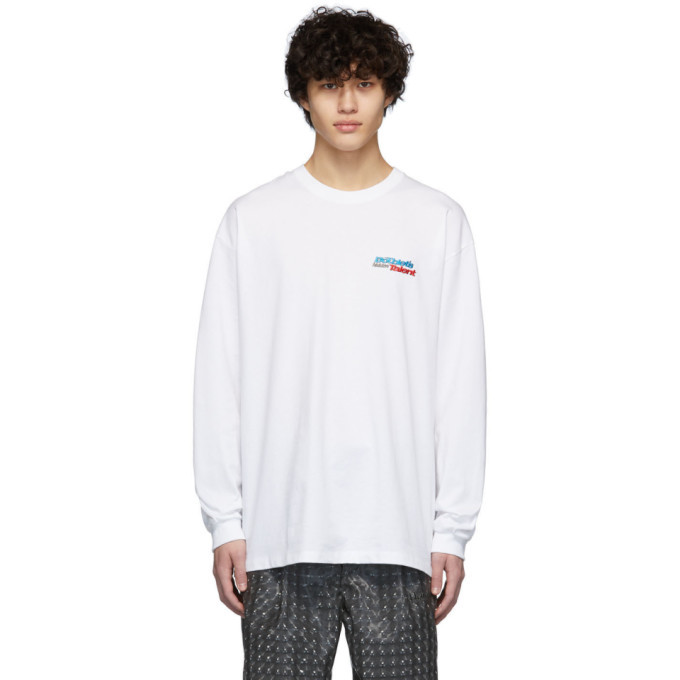 Photo: Doublet White Hidden Chaos Long Sleeve T-Shirt