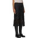 Sacai Black Embroidered Paisley Lace Skirt