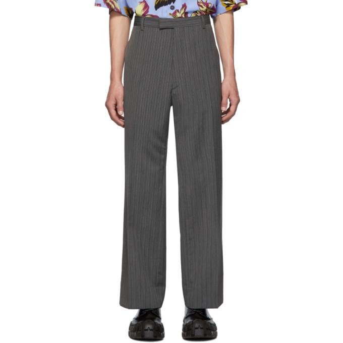 Photo: Prada Grey Mohair Classic Trousers