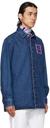 Raf Simons Blue & Purple Denim Straight Fit Shirt