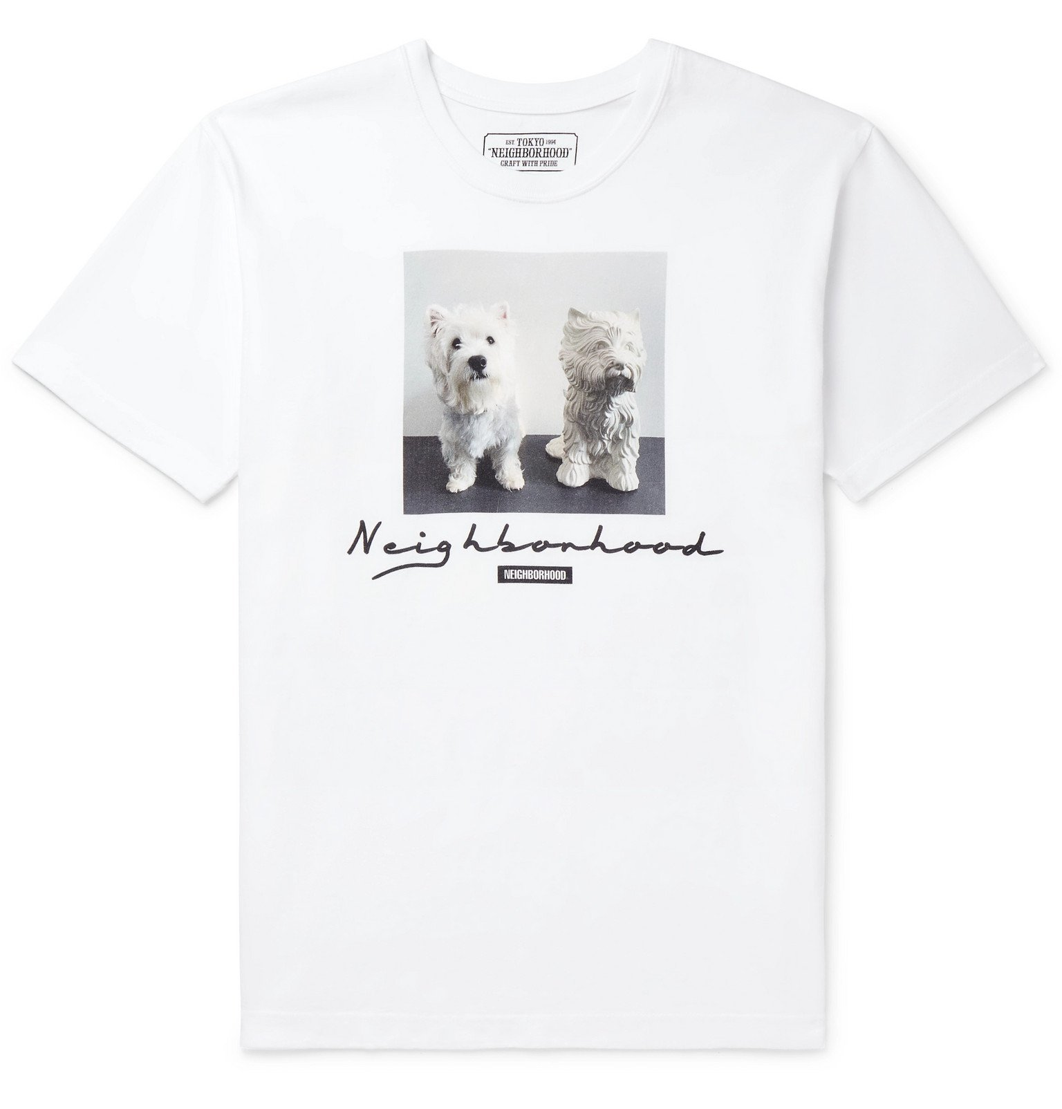 Photo: Neighborhood - Uni Logo-Print Cotton-Jersey T-Shirt - White