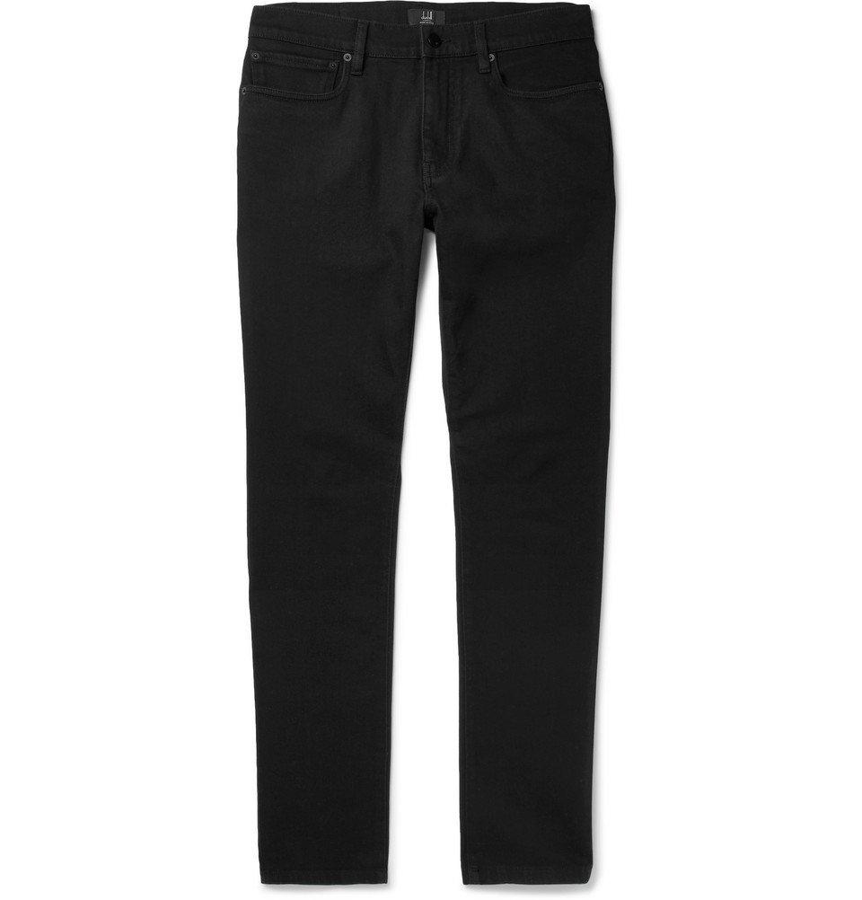 Dunhill - Slim-Fit Stretch-Denim Jeans - Men - Black