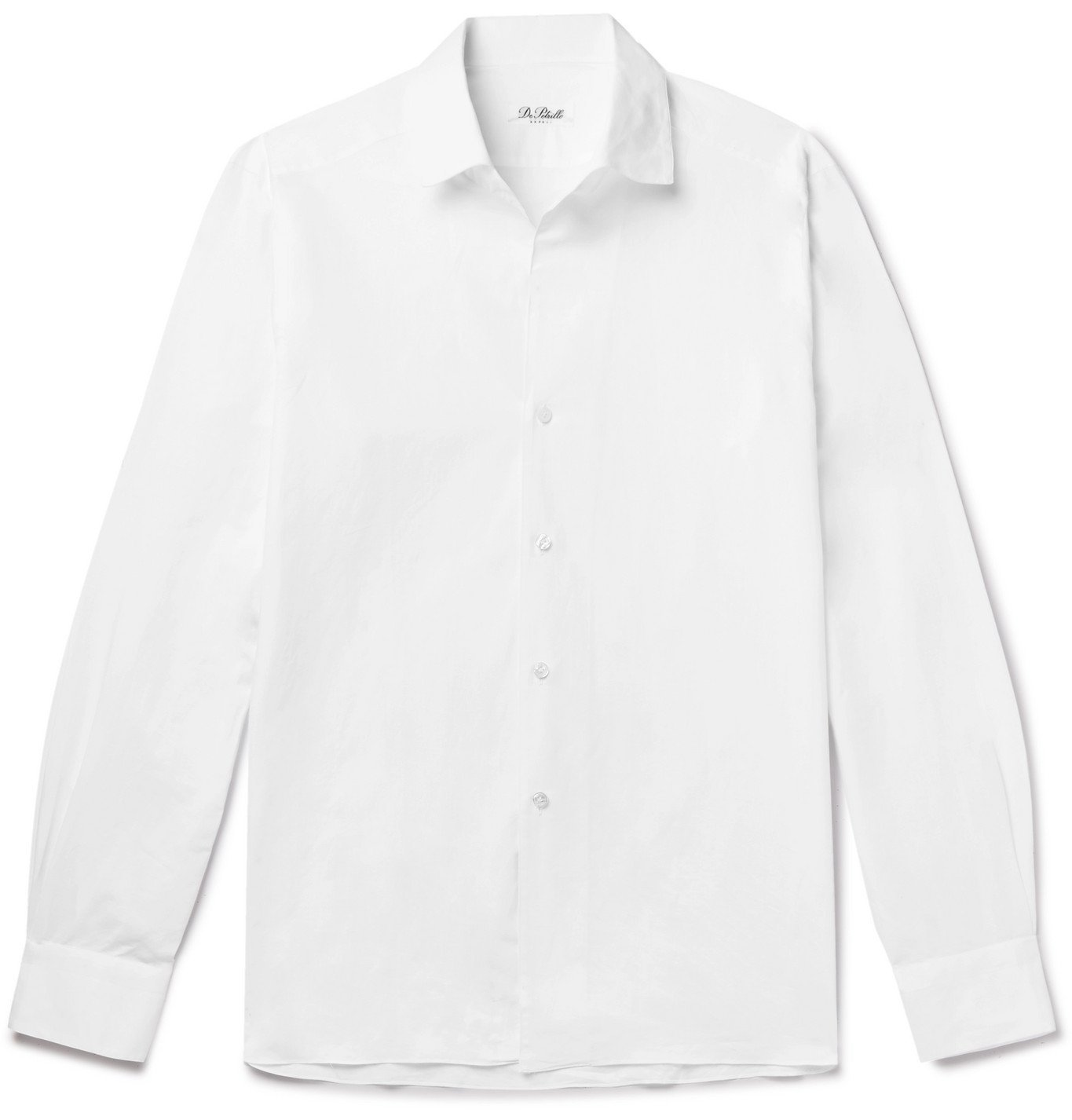 Photo: De Petrillo - Cotton and Linen-Blend Shirt - White