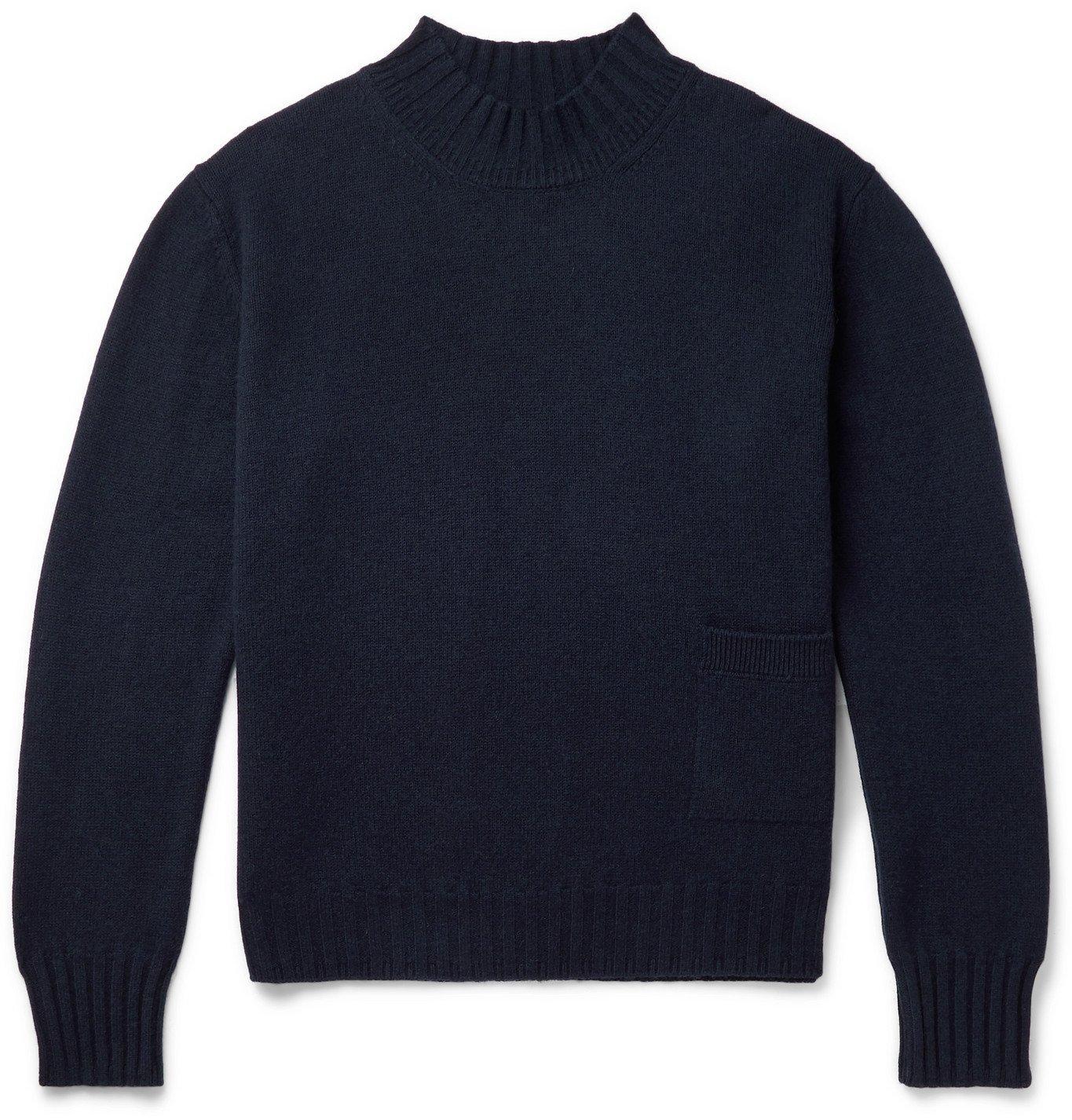 Margaret Howell - Merino Wool Mock-Neck Sweater - Blue