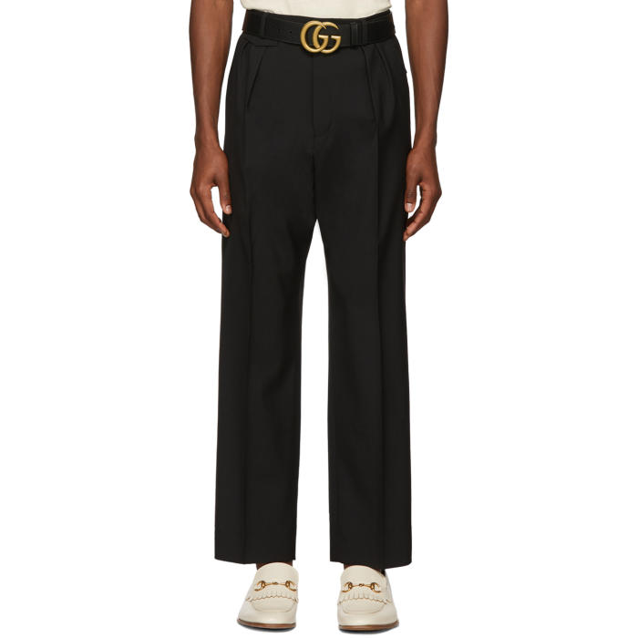 Photo: Gucci Black Wool Military Trousers