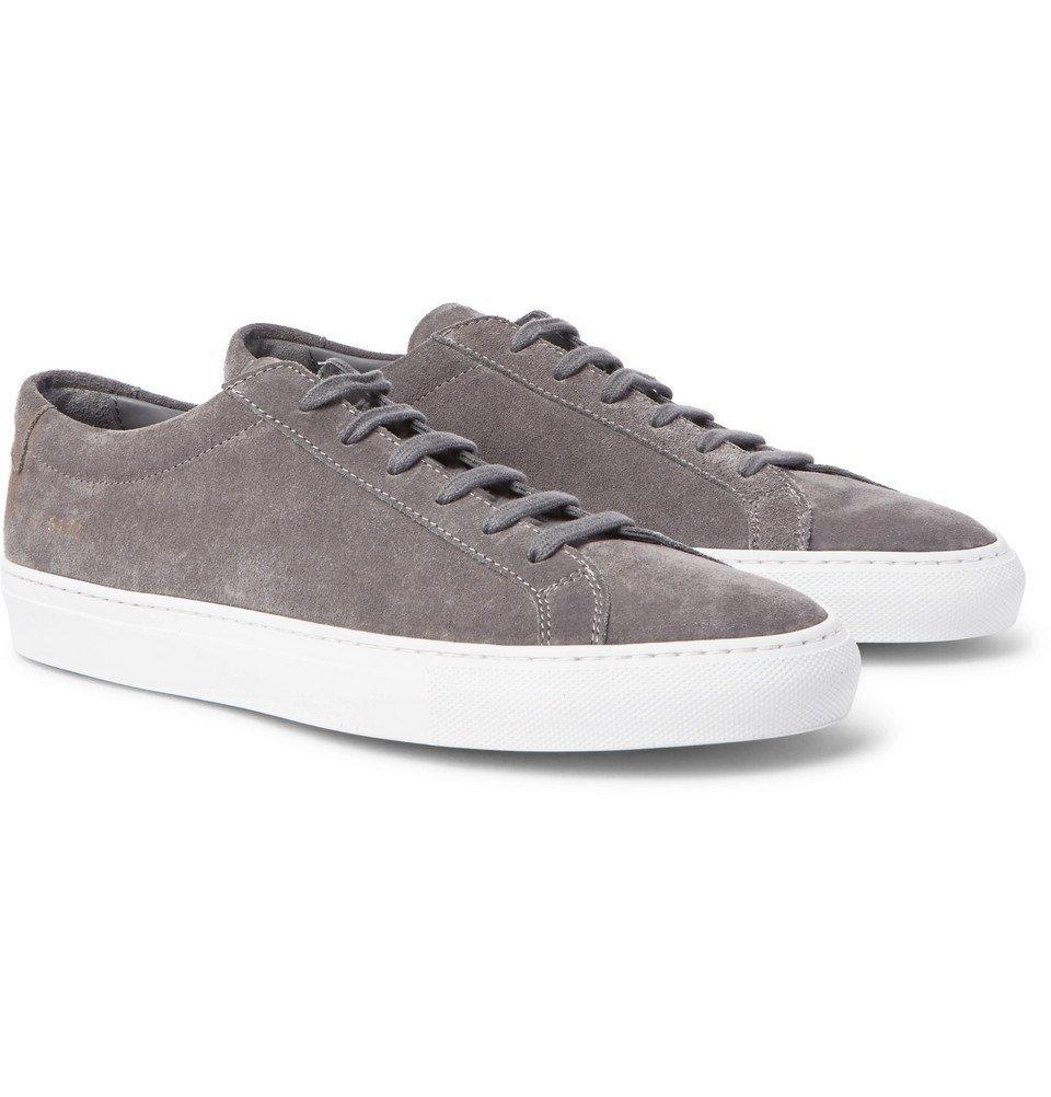 Common Projects - Original Achilles Suede Sneakers - Men - Dark gray