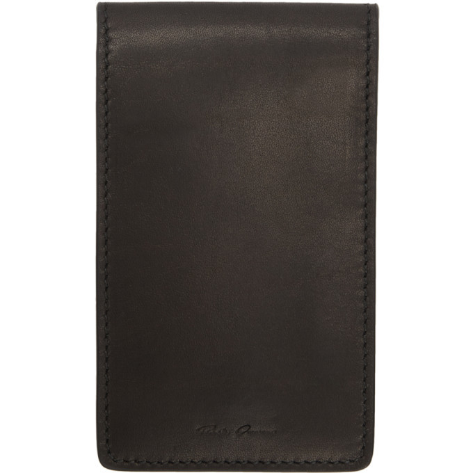Photo: Rick Owens Black Leather Bifold Wallet