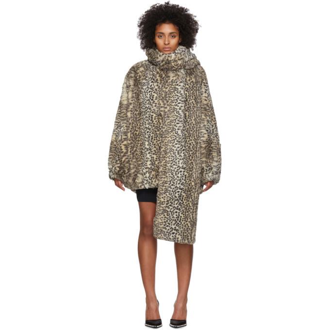 Photo: alexanderwang.t Beige Oversized Cheetah Coat