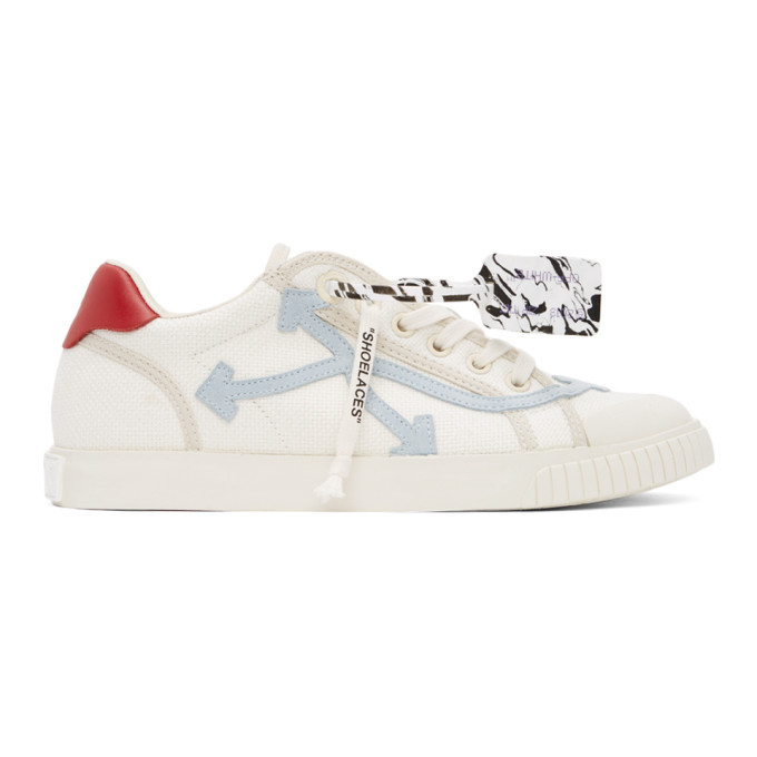 Photo: Off-White Off-White and Blue New Vulcanized Low Sneakers