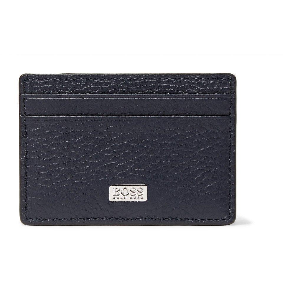 Photo: Hugo Boss - Full-Grain Leather Cardholder - Navy