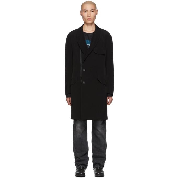 Photo: Yohji Yamamoto Black Shawl Zip Coat