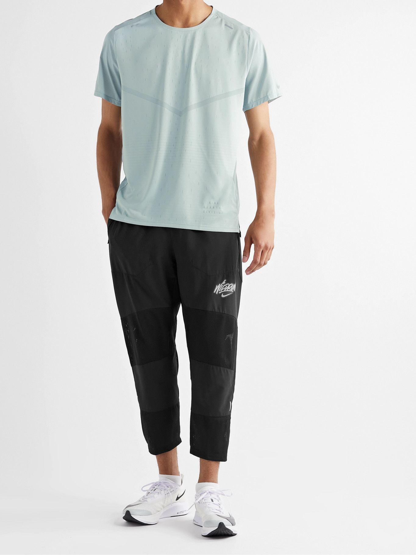 NIKE RUNNING - Phenom Elite Wild Run Tapered Cropped Dri-FIT Track Pants - Black